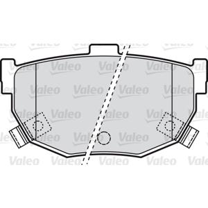 Arka Fren Balatası Hyundaı Coupe 1,6 16v - Elantra 1,6i 16v VALEO 598817 VALEO