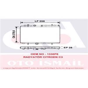 Motor Radyatörü Mekanık P207 1,6hdi 06-> C3 1,4 1,6 1,4hdi 03-> Ep:27-21 Dm2) VALEO 734398 VALEO