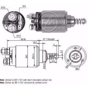 Marş Otomatiği 12v Mercedes Dıesel (cbs-b704) ZM 0543