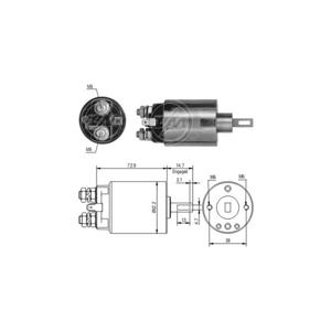 Marş Otomatiği 12v Honda Accord Cıvıc Eskı Model ZM 0584