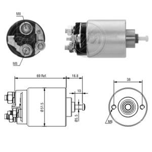 Marş Otomatiği 12v Focus-c.max-fıesta-fusıÖn Kısa Gövde ZM 0961