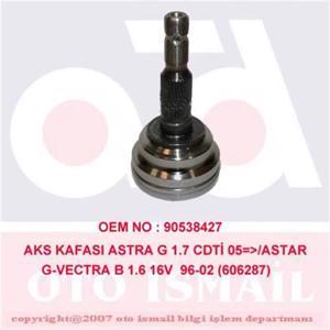 Aks Kafası Dış Astra G 1.4 16v-1.6-1.6 16v-1.7cdti-1.7td(98-05)-vectra B 1.6ı 16v(95-02 15-0287) CIFAM 606287 CIFAM