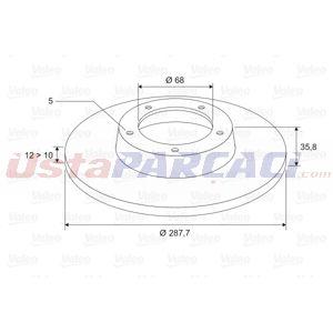 Audi A4 2.7 Tdi 2004-2008 Valeo Arka Fren Diski UP1498055 VALEO