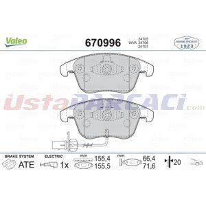 Audi A4 Avant 3.2 Fsi Quattro 2007-2015 Valeo Ön Fren Balatası UP1505135 VALEO