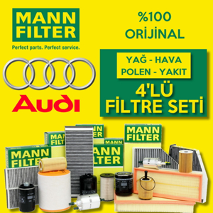 Audi A4 Quattro 2.0 Tdi 2015-2019 Mann-filter Filtre Bakım Seti UP1326253 MANN