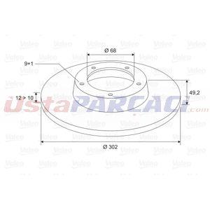 Audi A6 Avant 2.8 Fsi Quattro 2005-2011 Valeo Arka Fren Diski UP1481864 VALEO