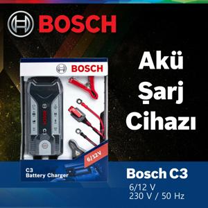 Bosch C3 Akü Şarj Cihazı 6-12v Aküler İçin 2 Yil Garantili Bosch-018999903M BOSCH