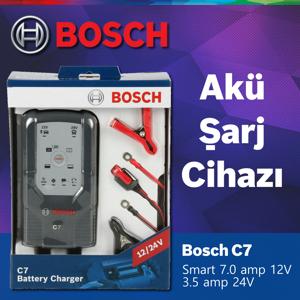 Bosch C7 Akü Şarj Cihazı (12-24v Aküler Için) 2 Yil Garantİlİ UP1547508 BOSCH