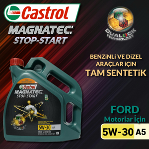 Castrol Magnatec Stop-start 5w30 A5 Tam Sentetik Motor Yağı 7 Litre Ü.t.11/2019 UP1534630 CASTROL