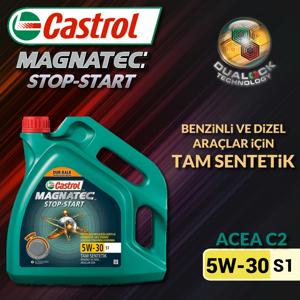 Castrol Magnatec Stop-start 5w30 S1 Tam Sentetik Motor Yağı 4 Litre Ü.t.03/2020 UP1534631 CASTROL
