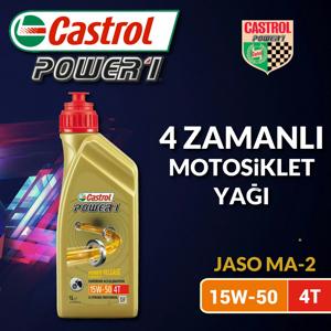 Castrol Power 1 4t 15w50 Yarı Sentetik Motor Yağı 1 Litre Ü.t.07/2019 UP1534848 CASTROL