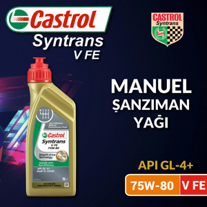 Castrol Syntrans V Fe 75w-80 Manuel Şanzıman Yağı 1 Litre Ü.t.02/2020 UP1534856 CASTROL