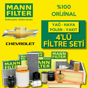 Chevrolet Lacetti 1.4 Mann-filter Filtre Bakım Seti 2005-2013  UP1324637 MANN