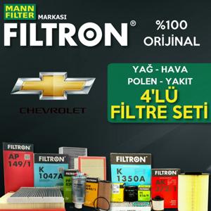 Chevrolet Lacetti 1.6 Filtron Filtre Bakım Seti 2005-2013 UP1324634 FILTRON