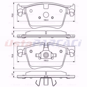 Citroen C4 Grand Picasso Ii 1.2 Thp 130 2013-2020 Bosch Ön Fren Balatası UP1618674 BOSCH