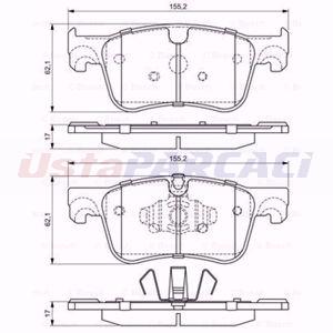 Citroen C4 Grand Picasso Ii 1.6 Hdi / Bluehdi 115 2013-2020 Bosch Ön Fren Balatası UP1616798 BOSCH