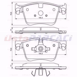 Citroen C4 Picasso Ii 1.6 Thp 165 2013-2020 Bosch Ön Fren Balatası UP1617553 BOSCH