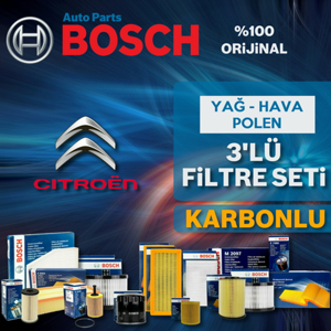 Citroen Berlingo 1.9 Dizel Bosch Filtre Bakım Seti 2002-2008 UP1539661 BOSCH