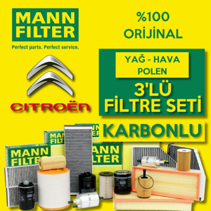 Citroen Berlingo 1.9 Dizel Mann Filtre Bakım Seti 2002-2008 UP1539665 MANN