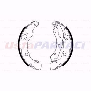 Citroen C-elysee 1.2 Vti 82 2012-2020 Bosch Arka Fren Balatası UP1589984 BOSCH