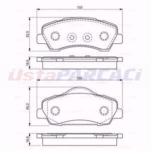 Citroen C-elysee 1.6 Vti 115 2012-2020 Bosch Ön Fren Balatası UP1554202 BOSCH