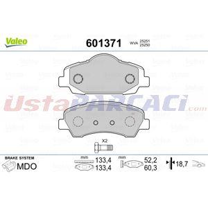 Citroen C-elysee 1.6 Vti 115 2012-2020 Valeo Ön Fren Balatası UP1439572 VALEO
