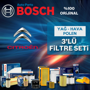 Citroen C1 1.4 Hdi Bosch Filtre Bakım Seti 2005-2013 UP1312942 BOSCH