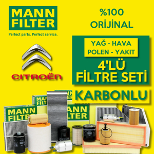 Citroen C3 1.6 Dizel Mann Filtre Bakım Seti 2016-sonrası UP1539672 FILTRON