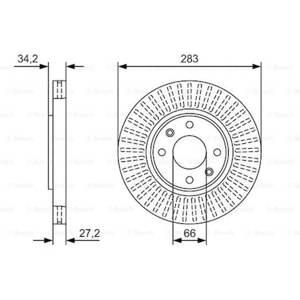 Citroen C3 1.6 Hdi 2005-2012 Bosch Ön Disk 2 Adet UP585058 BOSCH