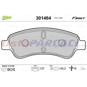 Citroen C3 Picasso 1.2 Thp 110 2009-2020 Valeo Ön Fren Balatası UP1456093 VALEO