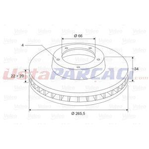 Citroen C3 Picasso 1.4 Vti 95 Lpg 2009-2020 Valeo Ön Fren Diski UP1410792 VALEO
