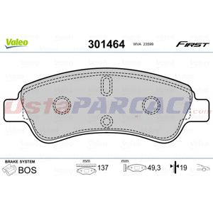 Citroen C3 Picasso 1.6 Hdi 90 2009-2020 Valeo Ön Fren Balatası UP1455918 VALEO