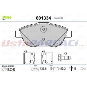 Citroen C3 Picasso 1.6 Vti 120 2009-2020 Valeo Ön Fren Balatası UP1420189 VALEO