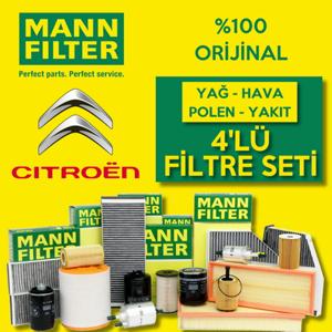 Citroen C4 1.6 E-hdi Mann-filter Filtre Bakım Seti 2011-2015 UP1319681 MANN