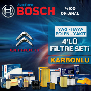 Citroen C4 Cactus 1.6 E-hdi Bosch Filtre Bakım Seti 2014-2017 UP1313080 BOSCH