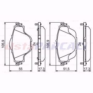 Citroen C4 Grand Picasso Ii 1.6 Hdi / Bluehdi 115 2013-2020 Bosch Arka Fren Balatası UP1594177 BOSCH