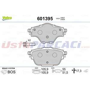 Citroen C4 Grand Picasso Ii 1.6 Hdi 90 2013-2020 Valeo Arka Fren Balatası UP1457748 VALEO