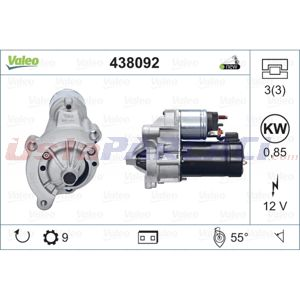 Citroen C5 I 1.8 16v 2001-2004 Valeo Marş Motoru UP1502748 VALEO