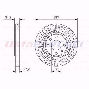 Citroen Ds3 1.4 Vti 98 2009-2015 Bosch Ön Fren Diski 2 Adet UP1624285 BOSCH