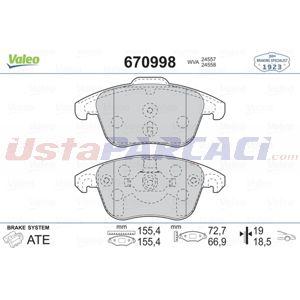 Citroen Ds4 1.6 Thp 155 2011-2015 Valeo Ön Fren Balatası UP1464110 VALEO