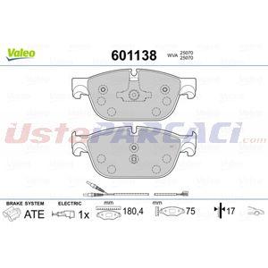 Citroen Ds4 1.6 Thp 200 2011-2015 Valeo Ön Fren Balatası UP1408662 VALEO