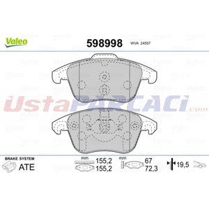 Citroen Ds4 2.0 Hdi 165 2011-2015 Valeo Ön Fren Balatası UP1446701 VALEO