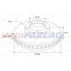 Citroen Jumper Minibüs 3.0 Hdi 155 2006-2020 Valeo Ön Fren Diski UP1498928 VALEO