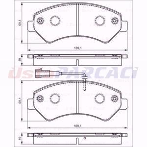 Citroen Jumper Minibüs 3.0 Hdi 180 2006-2020 Bosch Ön Fren Balatası UP1617904 BOSCH