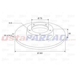 Citroen Jumper Panelvan 2.2 Hdi 100 2006-2020 Valeo Arka Fren Diski UP1438511 VALEO