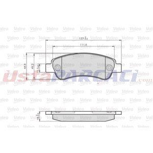 Citroen Jumper Panelvan 3.0 Hdi 180 2006-2020 Valeo Arka Fren Balatası UP1510337 VALEO