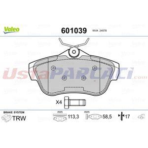 Citroen Jumpy Panelvan 2.0 Hdi 95 2007-2020 Valeo Arka Fren Balatası UP1519325 VALEO