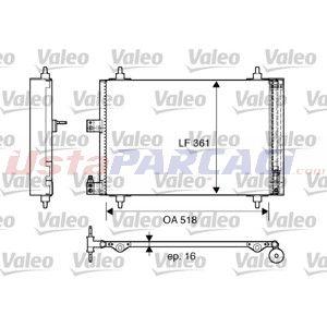 Citroen Xsara Coupe 2.0 Hdi 90 1998-2005 Valeo Klima Radyatörü UP1421357 VALEO