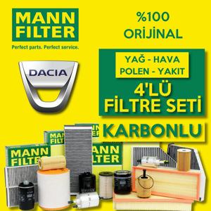 Dacia Sandero 1.5 Dci Mann Filtre Bakım Seti  2012-2018 UP1539615 MANN