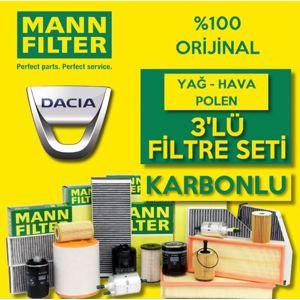 Dacia Sandero 1.5 Dci Mann Filtre Bakım Seti  2012-2018 UP1539614 MANN